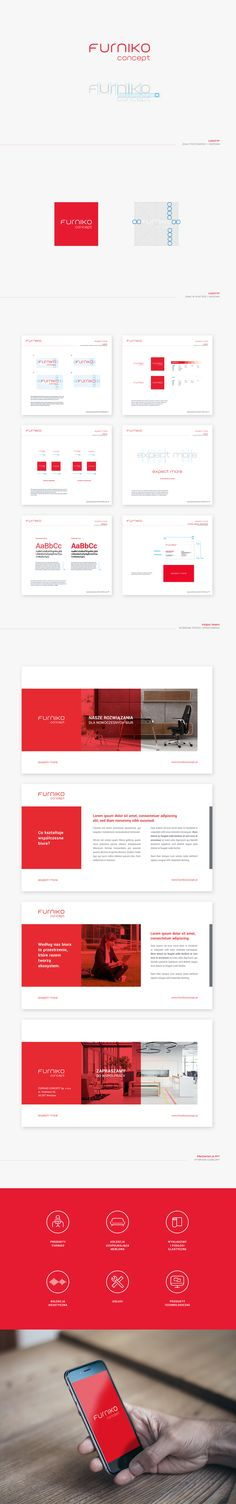 System identification for Furniko Concept (Poland) Graphic Projects, Corporate Identity, Branding, Concept, Poland, Layouts, Design, Brand Management