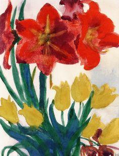 Flowers ~ Emil Nolde | Lone Quixote | #EmilNolde #nolde #expressionism…