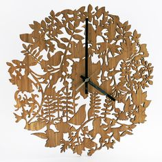 Cuckoo Clock in Amber Bamboo, €60. Available at www.faballthings.com/shop/clocks