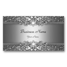 Elegant Classy Silver Gray Damask Embossed Look Business Cards. This is a fully customizable business card and available on several paper types for your needs. You can upload your own image or use the image as is. Just click this template to get started! Embossed Business Cards, Cool Business Cards, Custom Business Cards, Business Card Design, All You Need Is, Business Card Maker, Visiting Card Design, Presentation Cards, Borders For Paper
