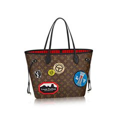 2e10c73fc7c Discover Louis Vuitton Neverfull MM  Fashioned in Monogram canvas featuring  Creative Director Nicolas Ghesquieres playful