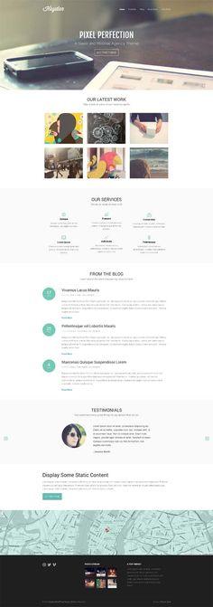 Hayden WordPress Theme, Premium Minimalistic Agency