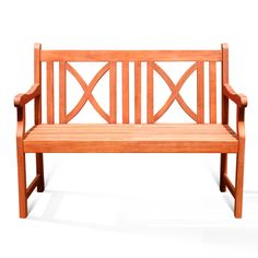 Softcross 2-Seater Eucalyptus Wood Outdoor Bench | Overstock.com Shopping - Great Deals on Vifah Outdoor Benches