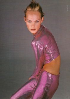 amber valletta for versace s/s 1996