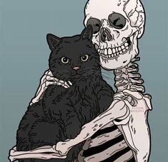 Baby animals ilustration black cats 60 new ideas Art And Illustration, Illustrations, Cat Skeleton, Dragon Skeleton, Skeleton Flower, Mermaid Skeleton, Skeleton Drawings, Graffiti, Wow Art
