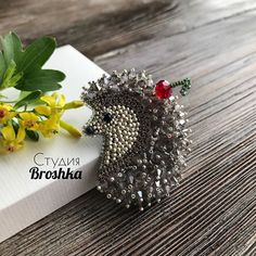 Ideas craft bead decoration for 2019 Bead Embroidery Jewelry, Beaded Embroidery, Beaded Jewelry, Beading Tools, Beading Projects, Hedgehog Accessories, Beaded Spiders, Beaded Animals, Brooches Handmade