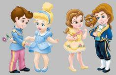 As Princesas bebês da Disney ~ ANTIQUE WALLPAPER