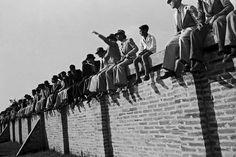 Hildegard Rosenthal. Torcedores assistem a jogo de futebol. São Paulo, 1940