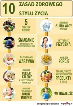 10 zasad zdrowego stylu życia Healthy Mind, How To Stay Healthy, Healthy Eating, Health Diet, Health Fitness, Ga In, Gewichtsverlust Motivation, Juice Plus, Keto Diet For Beginners