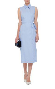 Cotton Sleeveless Wrap Shirt Dress  by ROSETTA GETTY Now Available on Moda Operandi