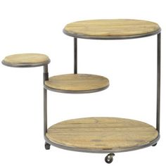Petersham Pine Revolving Side Table On Castors Small Tables, End Tables, Circle Table, Pine Table, Wholesale Furniture, Googie, Industrial Chic, Decorative Accessories, Decoration