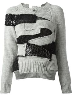 Junya Watanabe Comme Des Garçons asymmetric patchwork cardigan