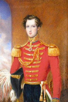 James Warren Childe (1778-1862) - The Actor William Don (1825-1862) in uniform, later Sir William Don, 7th Baronet, 160 x 110mm. William Don was a close friend of Sir Walter Scott. He was in the 5th Dragoon Guards in 1842, left the army in 1845 with heavy debts & the family estate had to be sold. He became an actor, touring the North of England & starring in New York and spending 5 years in America. He left in 1861 for Australia where he took to playing female characters in burlesques