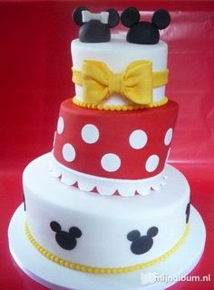 This would be a cool wedding cake if you both liked Disney  Mickey Mouse cake