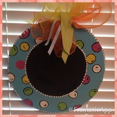 Polka Dot Chalkboard Door Hanger by PaisleyPeacockDes on Etsy, $18.00