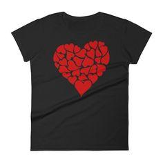 Women's LOVE Hearts Valentine's Day Gift T-Shirt