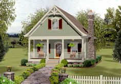 Cozy Cottage With Bedroom Loft - 20115GA | 2nd Floor Master Suite, CAD Available, Cottage, Country, Loft, PDF, Vacation | Architectural Designs
