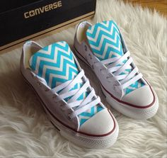 ANY COLOR Chevron Converse Shoes by ChaoticMayhem on Etsy