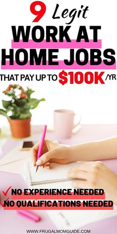 Did you know that it IS possible to get a high paying work at home job and quit .Did you know that it IS possible to get a high paying work at home job and quit your day job? These Best Work at Home Jobs are legitimate and require. No Spend Challenge, Money Saving Challenge, Money Saving Tips, Money Hacks, Money Tips, Earn Money From Home, Way To Make Money, Make Money Online, Money Fast
