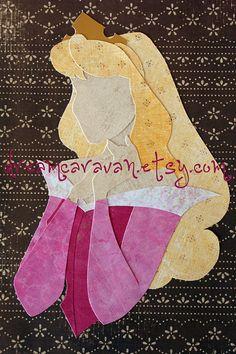 READY TO SHIP Paper Princess Profile Aurora by dreamcaravan, $16.00