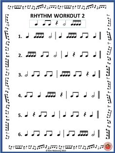 Free Download - Rhythm Workout - two pages. #musiceducation #musedchat