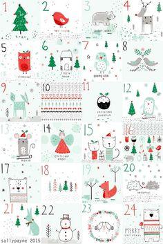 Imprimolandia: Calendario de Adviento para imprimir (3)