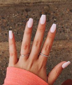 Ongles en Gel Rose Clair - New Ideas Light Pink Gel Nails Ongles gel UV rose clair. Simple Acrylic Nails, Summer Acrylic Nails, Best Acrylic Nails, Natural Acrylic Nails, Acrylic Nail Designs For Summer, Painted Acrylic Nails, Light Pink Nail Designs, Pink Summer Nails, Summery Nails