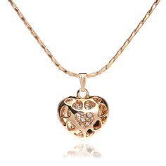 Moda rosário de ouro encheu o coração colar de jóias-Colares-ID do produto:60356446687-portuguese.alibaba.com