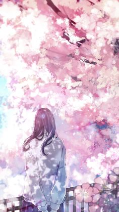 Anime Backgrounds Wallpapers, Anime Scenery Wallpaper, Pretty Wallpapers, Animes Wallpapers, Manga Anime Girl, Cool Anime Girl, Anime Girl Pink, Aesthetic Art, Aesthetic Anime