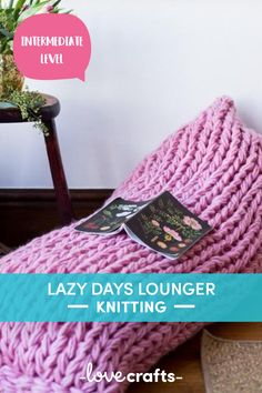This funky lazy days lounger is the perfect arm knitting project to make your home more snug! | Downloadable PDF at LoveCrafts.com