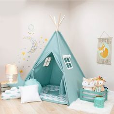 In search of a kids teepee? Get our take on this design trend and how kids teepee tents can help with learning and development! Kids Play Teepee, Childrens Teepee, Kids Tents, Indoor Tent For Kids, Indoor Tents, Indoor Outdoor, Diy Teepee Tent, Teepee Bed, Yellow Kids Rooms
