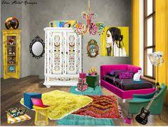 """Modern Art Twisted - Teenager Room"" by ebeesjunk on Polyvore"