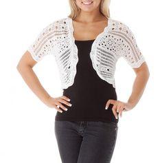 Crochet Bolero in white