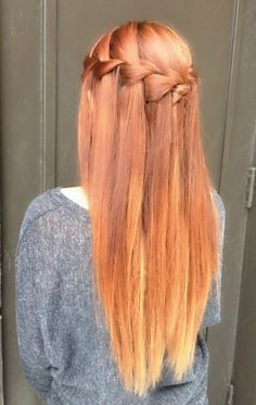 Ombre waterfall braid