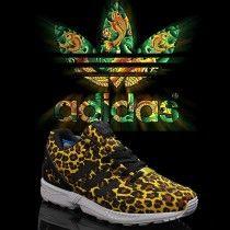 http://www.vendreshox.com/ Chaussures Adidas ZX Flux femme Leopard Jaune Noir Et Marron Pas Cher A549 eZM