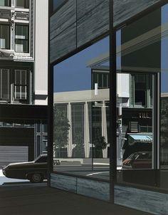 DIBUJANDO ARQUITECTURAS: Richard Estes, la ciudad reflejada