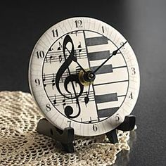 Ceramic Musical Clock - my heart just skipped a beat