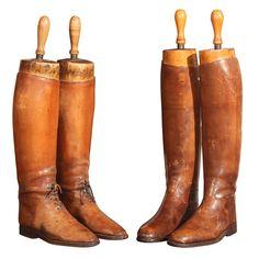 Antique riding boots