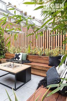 Back Garden Design, Small Backyard Design, Backyard Garden Design, Small Backyard Landscaping, Backyard Ideas, Small Courtyard Gardens, Small Courtyards, Outdoor Seating, Outdoor Spaces