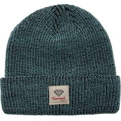 Diamond Supply Co OG Sign Spreckle Beanie (diamond blue) ($30) ❤ liked on Polyvore featuring accessories, hats, beanies, head, diamond beanie, blue beanie hat, blue hat, diamond supply co hats y blue beanie