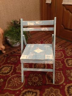 Annie Sloan Chalk Painted Wood Folding Chair
