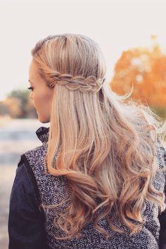 *Braid half updo hair inspiration