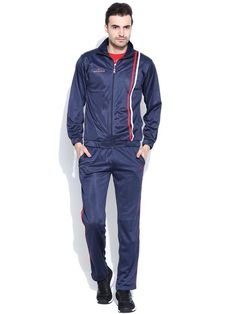Duke Men's Stripped Navy Track Suit by Returnfavors