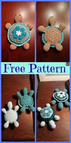 Super Cute Crochet Baby Turtle - Free Pattern This Crochet Baby Turtle would be a great gift for a young child. Amigurumi Patterns, Knitting Patterns, Crochet Patterns, Baby Turtles, Turtle Baby, Crochet Baby Blanket Beginner, Love Crochet, Double Crochet, Stuffed Animal Patterns