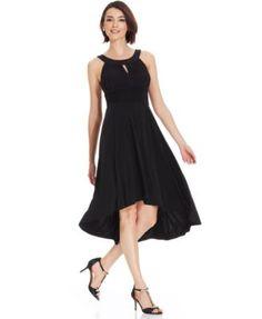 Sangria Sleeveless High-Low Halter Dress - Dresses - Women - Macy's