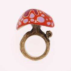 Strange Mushroom Ring Red