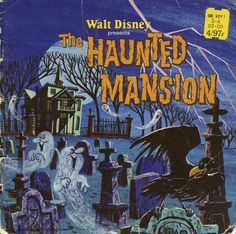 Walt Disney Presents The Haunted Mansion ©1970 - Front cover