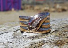 Vintage Antique Snake Ring Old Mine & Rose Cut by DiamondAddiction
