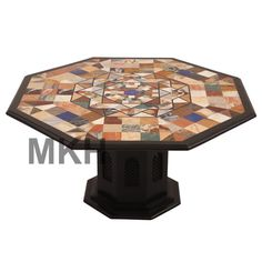 Marvelous Coffee Table Marble Stone Inlay End Table Top Vintage Mid Century Italian  Style #Handmade #