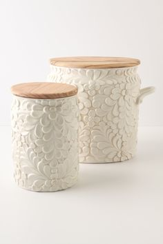 Decor accents and bonus storage. Verdant Canisters #Anthropologie #PinToWin